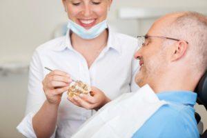 An older patient asks questions